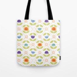 Mod Flowers Tote Bag