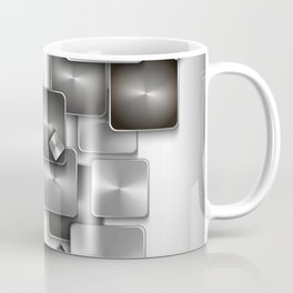 Abstract buttons background Coffee Mug