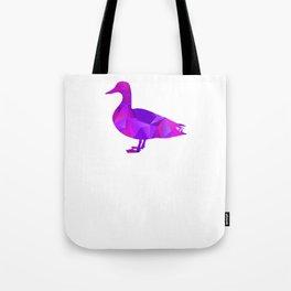 I Love Ducks Purple Fowl Waterfowl Hunter Quack Geometric Tote Bag