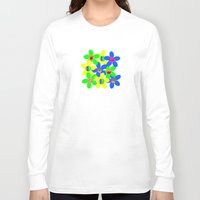 70s Long Sleeve T-shirts featuring Flower Power 60s-70s by dedmanshootn