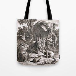 Le lion s'en allant en guerre Tote Bag