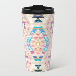 Woven Textured Pastel Kilim Pattern Travel Mug