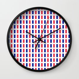 Flag of France 2- France, Français,française, French,romantic,love,gastronomy Wall Clock