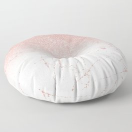 Rose Glitter Pink Marble Floor Pillow