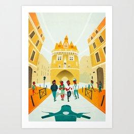 Porte Cailhau Art Print