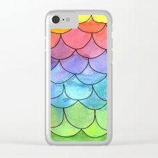 Rainbow Scales Clear iPhone Case
