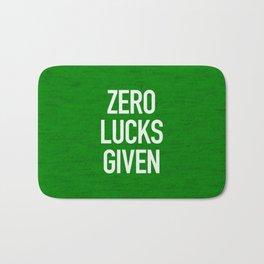 Zero Lucks Given Bath Mat