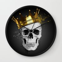 Royal Skull Wall Clock