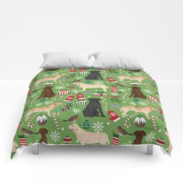 Labrador retrievers christmas festive holiday gifts for dog lover in your life dog breeds custom art Comforters