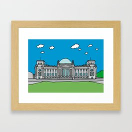 Reichstag building in Berlin Framed Art Print