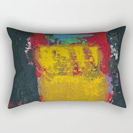 Baron Modern Art Black Rectangular Pillow