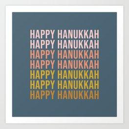 Happy Hanukkah Art Print