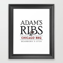 Adam's Ribs Framed Art Print
