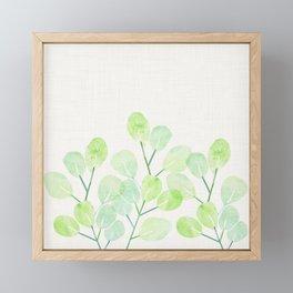 Jade Plant Watercolor Framed Mini Art Print