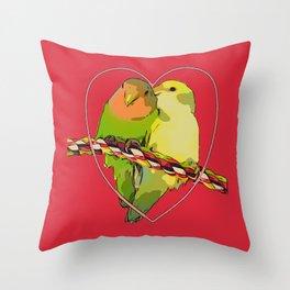 Cupidon's birds Throw Pillow