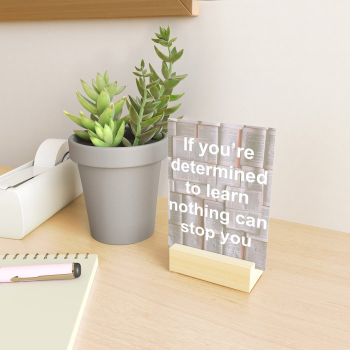 Inspiration - Spend more time learning  Mini Art Print