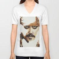 jack sparrow V-neck T-shirts featuring Captain Jack Sparrow by David Burdis