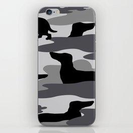 Grey Camo Weiner Dogg iPhone Skin
