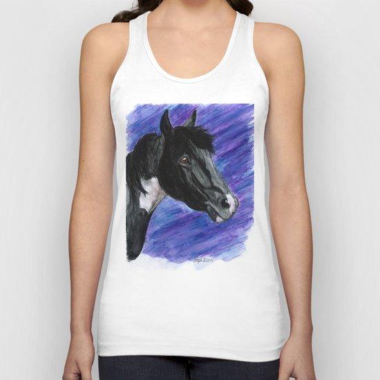 Watercolor Paint Horse Unisex Tank Top