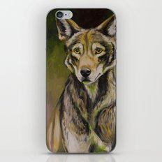 Red Wolf iPhone & iPod Skin