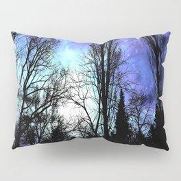 Black Trees Periwinkle Blue Lavender SPACE Pillow Sham