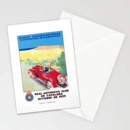 1929 SPAIN International Rally Exposition Of Barcelona Poster Stationery Cards