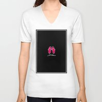 couple V-neck T-shirts featuring Couple by barmalisiRTB