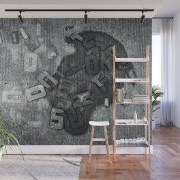 Font Art Wall Mural