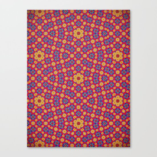 Country Festival Pattern Canvas Print