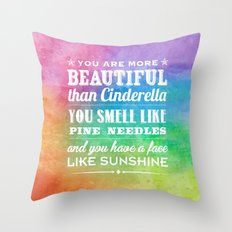 Sunshine Face Throw Pillow
