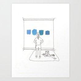 Picking the Perfect Blue Art Print