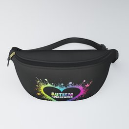 Autism Awareness Colorful Splatter Heart product Gift for Mom Fanny Pack