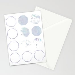 Watercolor Hexagon Pattern Stationery Cards