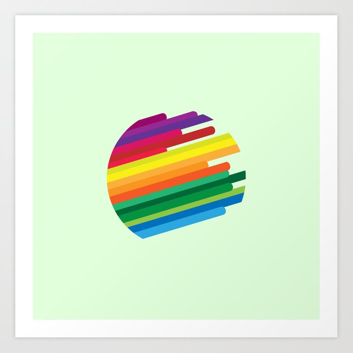 Colouring your world Art Print
