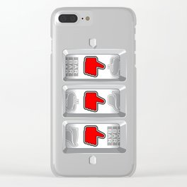 Jackpot / Slot machine hitting three thumbs up Clear iPhone Case