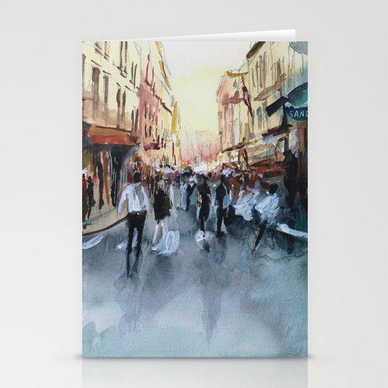 PARIS Street - Painting Stationery Cards