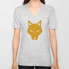 Wolf Pack (yellow) Unisex V-Neck