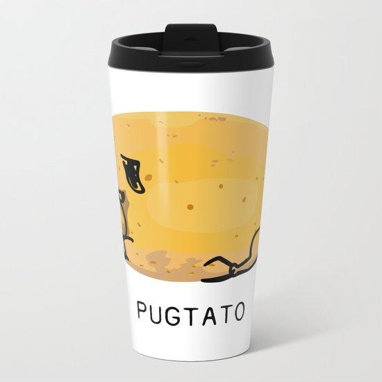 Pugtato Metal Travel Mug
