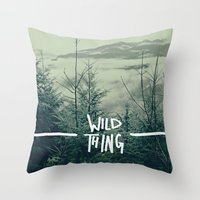washington Throw Pillows featuring Wild Thing: Skagit Valley, Washington by Leah Flores