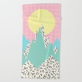 Memphis Mountains Beach Towel