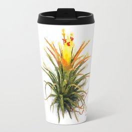 Tillandsia Druid Air Plant Watercolors Travel Mug