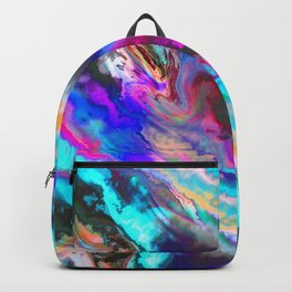 Colorful Abstract Paint Chaos Backpack