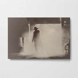 Gunslinger - Dramatic Portrait - Tucson, AZ Metal Print