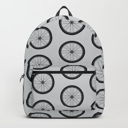 Bicycle 04 Tire Pattern Grey Backpack