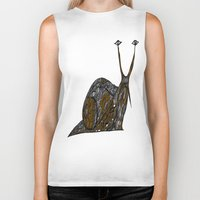 greg guillemin Biker Tanks featuring Snail Abstract by Greg Phillips by SquirrelSix