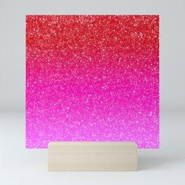 Red/Pink Glitter Gradient Mini Art Print