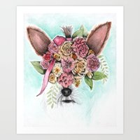 yorkie Art Prints featuring Yorkie by Carmen McCormick