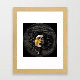 Medusa Head & quote Framed Art Print