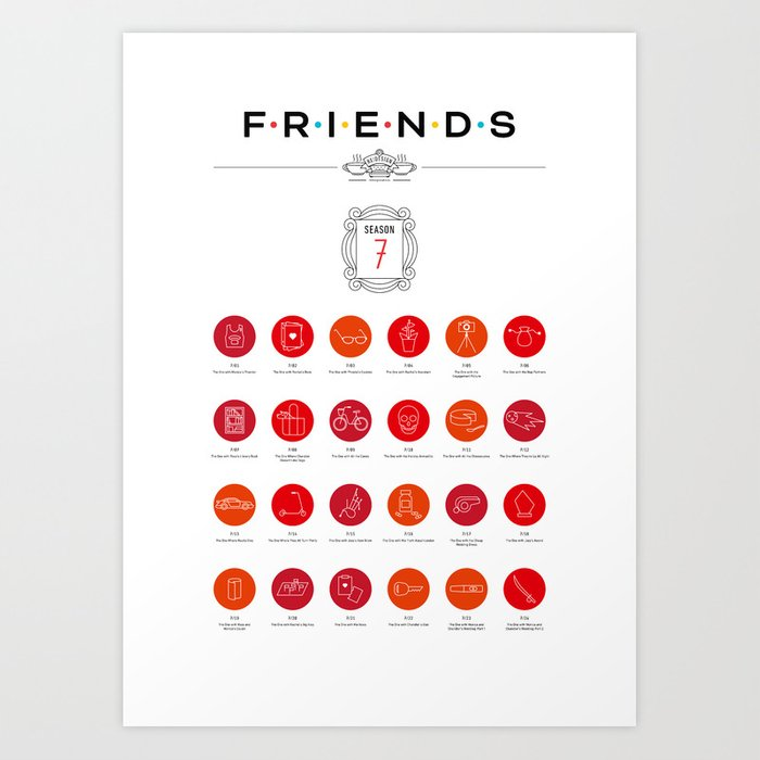 Tribute to Friends: Season 7 Art Print