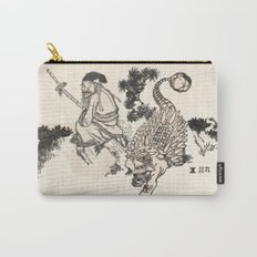 Old Man & Ankylosaurus Carry-All Pouch